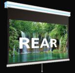 Задна прожекция - Ролетни ръчни екрани